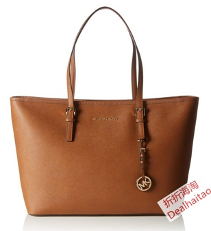 MICHAEL KORS Jet Set Travel Medium Tote MK女士真皮中號拉鏈托特包