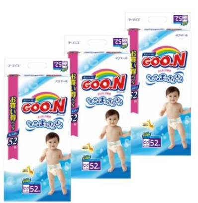 大王GOON天使系列维E婴儿纸尿裤(12~20kg) 52枚×3包 用coupon后新低3870日元(约¥246,不含运费)限购1组