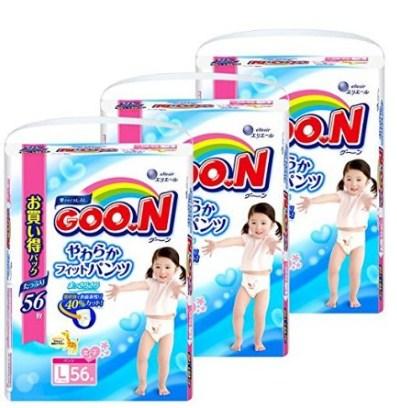 日本本土大王男女童学步裤拉拉裤 L码、新生儿纸尿裤 秒杀+300日元coupon,好价再来