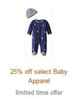 Amazon Baby Registry 宝宝计划,婴幼儿服饰额外75折,孕产妇服饰额外75折