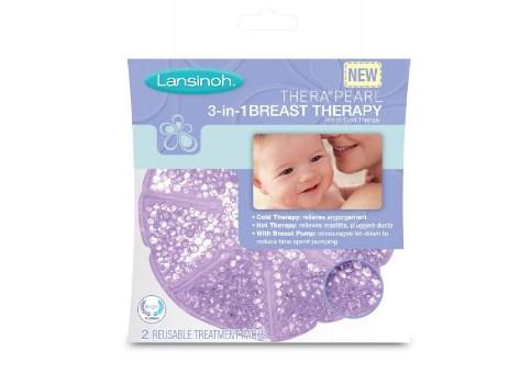 哺乳期妈妈用品 Lansinoh TheraPearl 三合一乳房护理冷热敷垫 缓解奶涨奶结