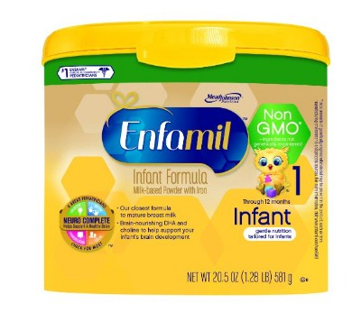 美赞臣 Enfamil Infant Non-GMO 美赞臣幼儿一段配方奶奶粉,581g*4罐