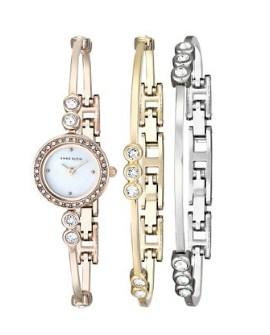 安妮克雷恩 Anne Klein AK/1690TRST 施华洛世奇水晶腕表套装