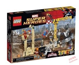 乐高 LEGO 76037 篇幅侠超级英雄之犀牛与睡魔恶霸大集结套装(386粒)