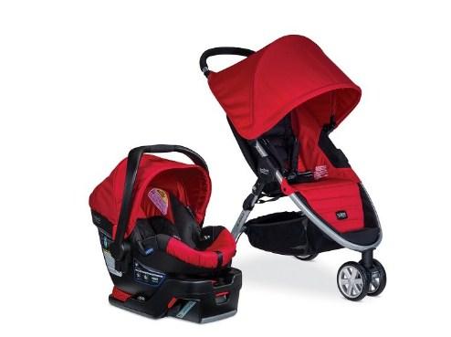 百代适 Britax B-Agile 35 Travel System 碰撞保护系统婴儿推车和汽车安全座椅套装